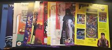 Vintage Pinball Machine Flyers Manuals Purr Fection Terminator 2 Rat Race Lawman