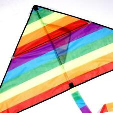 Large Delta Kite For Kids Adults Single Line Easy Fly Include Kite Handle U2J4