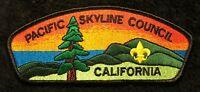 BSA PACIFIC SKYLINE COUNCIL CA OA OHLONE LODGE 63 FLAP SCENIC RARE ISSUE  CSP
