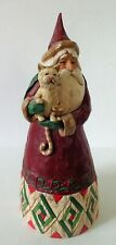 Jim Shore Hwc 2002 Santa w/ Cat Christmas Figurine B105167