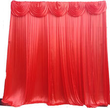 RED ice silk 3Mx3M Wedding Backdrop Curtain .Detachable Swag . 4 pipe /drape
