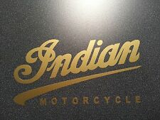INDIAN MOTORCYCLE DECAL STICKER * GOLD * HARLEY ** BSA * BMW * TRIUMPH * NORTON