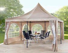 2 Seitenteile zu Lounge Pavillon Sahara  4x4m mit PVC Fenster NEU & OVP
