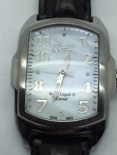 Invicta Baby Lupah II Limited Stainless Steel MOP Black Band Watch w/ Box