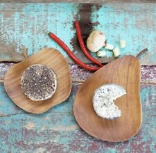 Wooden Apple and Pear Serving Dish Set. Platter X2 Fruit Bowl Cheese Board