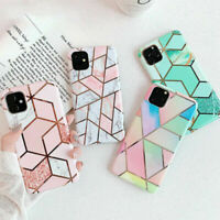 Case for iPhone 11 12 XR XS X SE 2020 8 7 ShockProof Marble Phone Cover Silicone