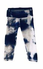 Lululemon Crop Pants Sz 6 Milky Way|Tie-Dye|Blue|White|Marble