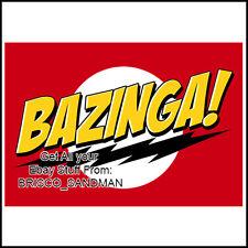 Fridge Fun Refrigerator Magnet BIG BANG THEORY - BAZINGA! - Sheldon Catchphrase