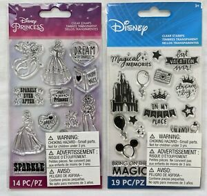 Disney Vacation & Princess Clear Stamps Lot of 2 by EK Success