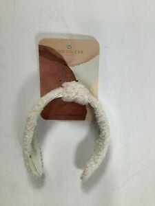 Womens Kristin Ess Hair White Cozy Headband NEW! NWT