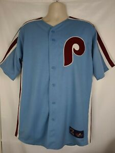 Vintage Philidelphia Phillies Cooperstown Collection Majestic Jersey SZ L USA