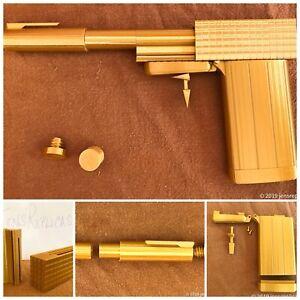 Golden Gun Cigarette Case Pen Lighter Replica Prop Gift Spy Pistol Plastic Kit
