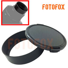 49mm Metal Standard Camera Lens Hood Screw in for Canon Nikon+58mm Lens Cap