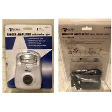 Krown Ringer Amplifier With Strobe Light Loud Ringer K-Ra005 Battery Operated