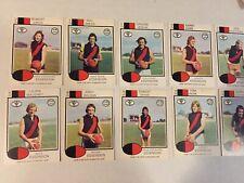 1975 ESSENDON VFL / AFL Scanlens Cards...Team Set (10 Cards)  FLETCHER, SHAW