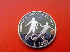 * San Marino 1000 LIRA argento 1994 * Calcio WM 1994
