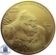 Africa Serie 2015: Kongo 10000 Francs Gorilla Gold Ounces antique finish