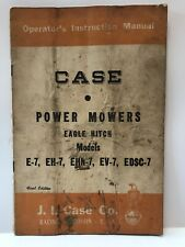 Case Power Mowers Instruction Manual First Edition Vintage 1952 Antique Tractor