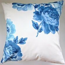 """Shabby Chic Cushion Cover in Cath Kidston Peony Blossom Blue 16"""""""