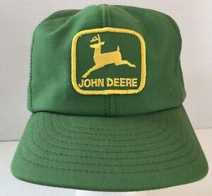 Vintage Green John Deere Patch Snapback Trucker Cap Hat Louisville Kentucky USA