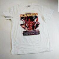 Play cloths Men 100% authenitc S/S t-shirt size large white logo galaxy space