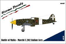 STORMO! DECALS - MACCHI C.202 ITALIAN ACES BATTLE OF MALTA - 1/48 - 48007