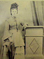 Large 1870s Victorian Cabinet Card Photograph by H Long of Bristol LAYBY