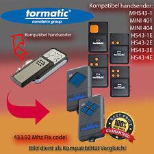 TORMATIC MAHS433-01, MHS43 - 1, S43-1 433,92MHz Kompatibel Handsender, klone