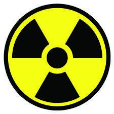 Radiation Symbol Sign Vinyl Sticker Radioactive Caution Decal Yellow Black Round