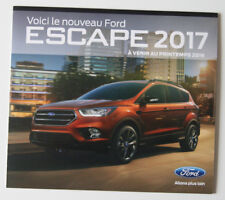 FORD Escape 2017 launching dealer brochure - French - Canada - ST1002000918