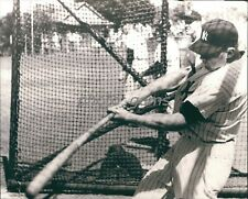1960's Mickey Mantle Demonstrates Bat Swing High Quality 11x14 Archival Photo