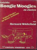 Leichte Boogie Woogies zu 4 Händen von Bernhard Whitefield