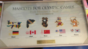 MASCOTS OF THE OLYMPICS GAMES EXTREMELY  RARE SPORTS MEMORABILIA