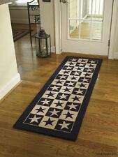 "Black Star Hooked Rug Runner by Park Designs - 24"" x 72"""