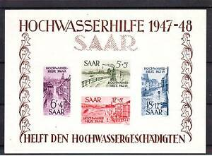 TIMBRES BLOC SARRE N°1 NEUF SANS CHARNIERE  LUXE  RARE.................