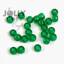 500 CHRISTMAS TREE GREEN 9x6mm Pony Beads for crafts hair kandi jewelry