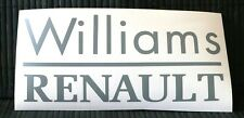 adesivo RENAULT williams decal sticker CLIO CUP SPORT TEAM MEGANE COACH