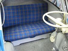 Stoff Sitz Karo Blau Oldtimer Käfer Goggo Dixi Mini Cooper Taunus 2CV Junior