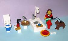Custom Lego Bathroom Sink Toilet Bathtub Shower Faucet Loo 10218 Pet Shop Dog WC