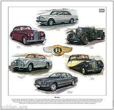 BENTLEY FINE ART PRINT - 4.5 Litre, Mark VI, R-type Continental R, S & T Series