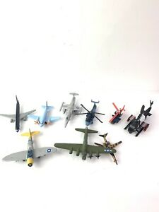 Lot of 9 Diecast Airplanes Planes Helicopters  Military Aircraft Marine Commerci