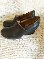 B.O.C. boc Born Concept Black Leather Crepe Wedge 8.5 Great condition!