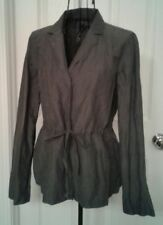 EILEEN FISHER Petite Gray Collar Cardigan Sweater Size PS
