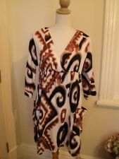 CHARLIE BROWN TUNIC DRESS LEOPARD PRINT BLACK BROWN
