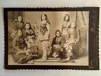 Antique Cabinet Photo Eisenmann NY INDIAN PRINCESS NENEMOOSHA'S BEAUTIES 1890