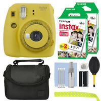 Fujifilm Instax Mini 9 Instant Film Camera Clear Yellow + 40 Film Accessory Kit