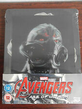 Avengers Age Of Ultron 3D+2D Blu-ray Steelbook Lenticular Zavvi Edition Debossed