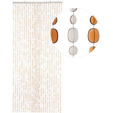 HAB & GUT Türvorhang OVAL, BRAUN / HELLBRAUN, Kunststoff, 90 x 200 cm