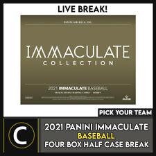 2021 Caja de béisbol 4 PANINI IMMACULATE (mitad Case) romper #A1172 - Elige Tu Equipo