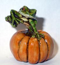 Harmony Kingdom Art Neil Eyre Designs Halloween Tree Frog toad pumpkin